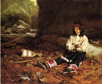 The Young Hunter | William Gilbert Gaul | oil painting