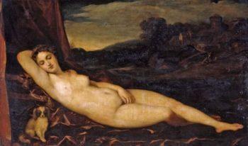Sleeping Venus | Tiziano Vecellio (Titian) | oil painting