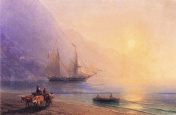 Loading Provisions off the Crimean Coast | Ivan Aivazovsky | oil painting