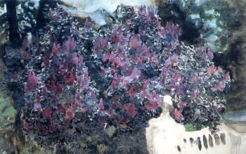 Lilacs (unfinished)   Mikhail Vrubel   oil painting