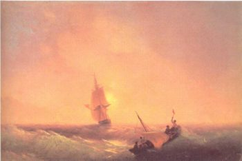 After shipwreck | Ivan Aivazovsky | oil painting