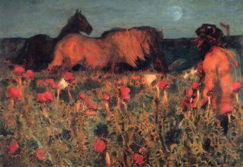 Night | Mikhail Vrubel | oil painting