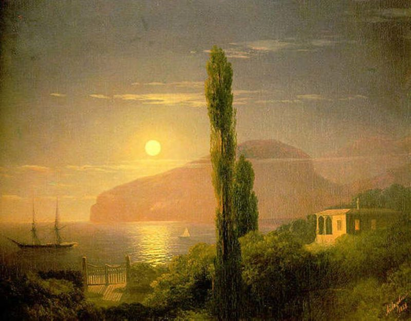A Lunar night in the Crimea | Ivan Aivazovsky | oil painting