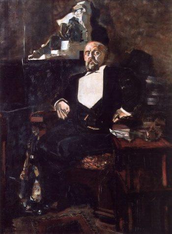 Portrait of Savva Mamontov (unfinished) | Mikhail Vrubel | oil painting