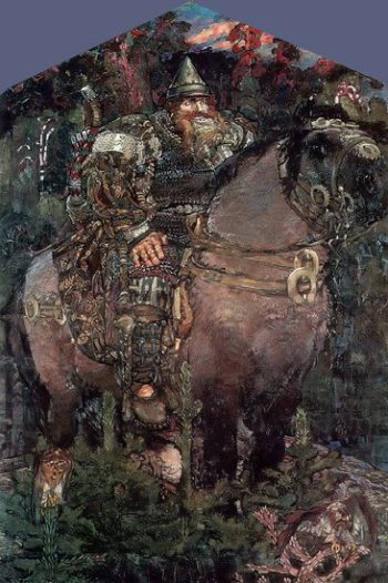 The Bogatyr | Mikhail Vrubel | oil painting