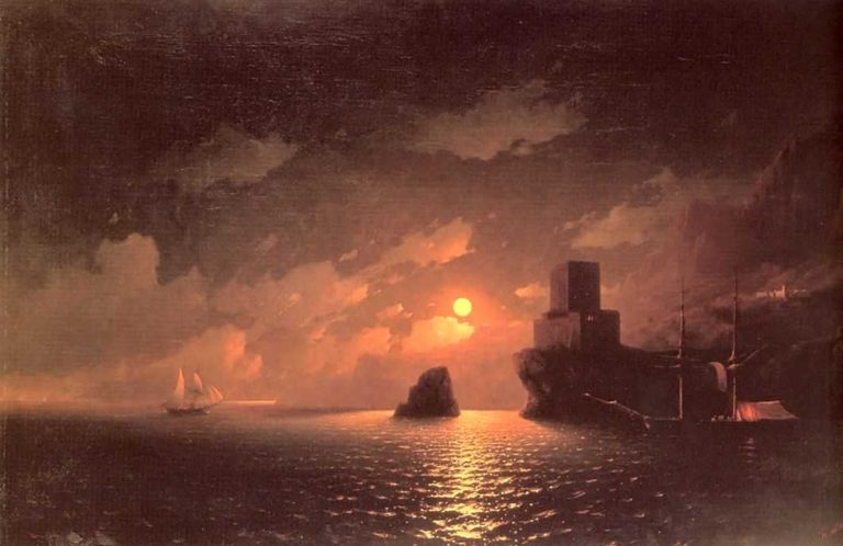 A Lunar night | Ivan Aivazovsky | oil painting