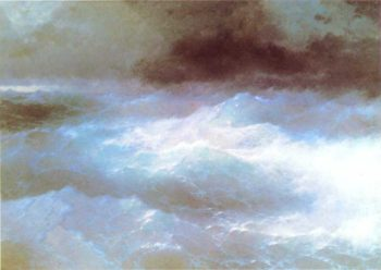 Among a waves | Ivan Aivazovsky | oil painting