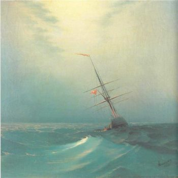 At night Blue wave | Ivan Aivazovsky | oil painting