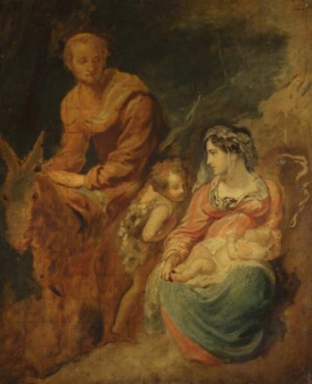 Holy Family with St John the Baptist | Unknown Artist | oil painting