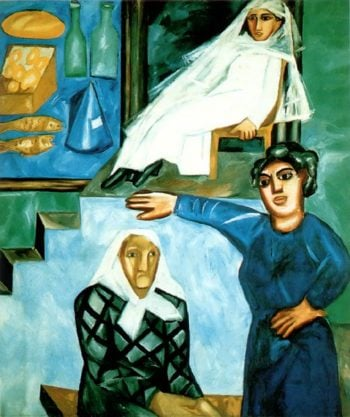 Jewish Women on the Porch | Natalia Goncharova | oil painting