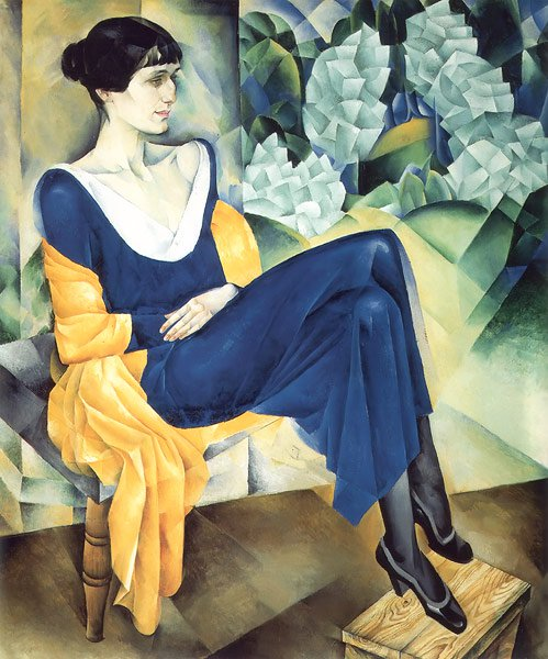 Portrait of Anna Akhmatova 1915 | Nathan Altman | oil painting