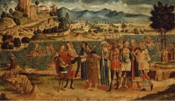 Laomedon refuses Apollo and Poseidon their reward   Unknown Artist   oil painting