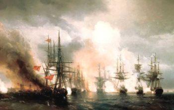 Battle near Sinop | Ivan Aivazovsky | oil painting