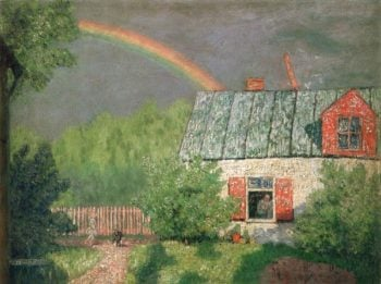 After Spring Rain 1908 | Nikolay Krymov | oil painting