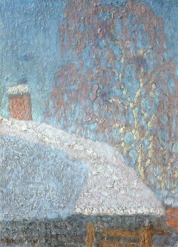 March Frost   Nikolay Krymov   oil painting