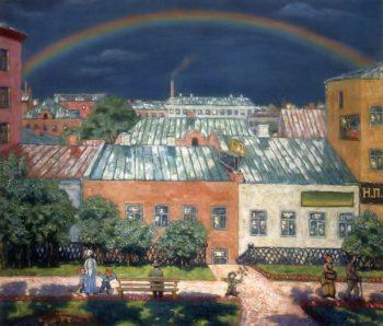 Moscow View Rainbow 1908 | Nikolay Krymov | oil painting