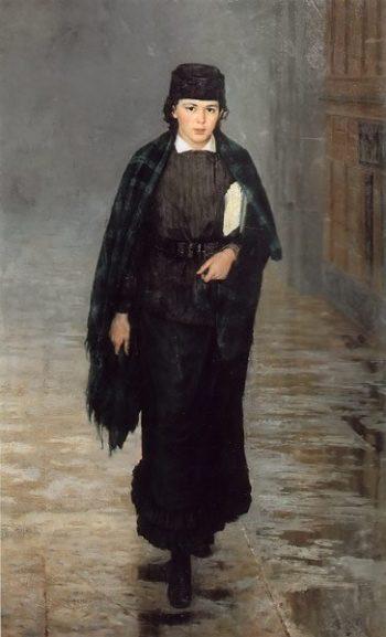 Course Attendant 1883 | Nikolay Yaroshenko | oil painting
