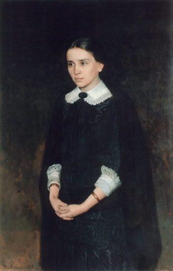 Portrait of P Strepetova 1884 | Nikolay Yaroshenko | oil painting