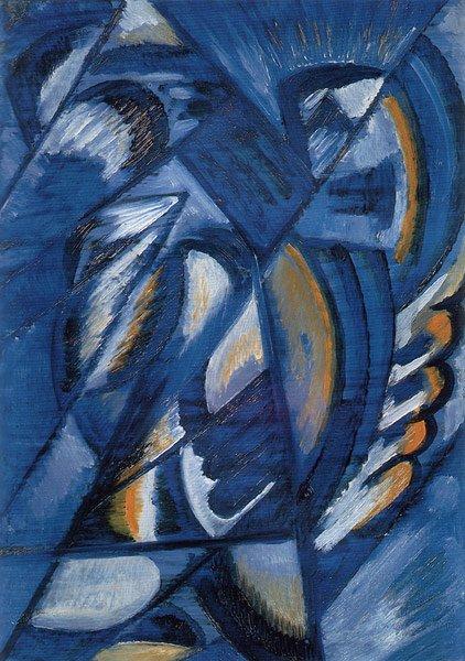 Blue on Tin 1913   Olga Rozanova   oil painting
