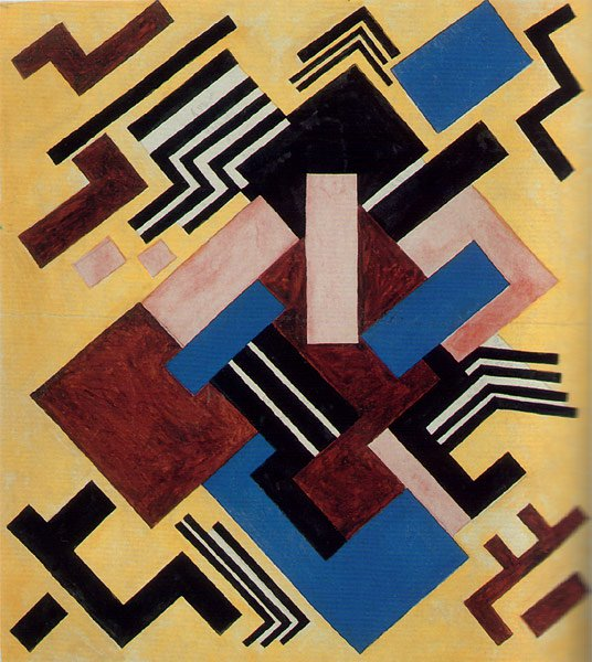Color Composition 1917 | Olga Rozanova | oil painting