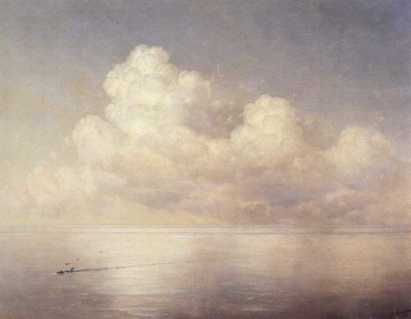 Clouds above a sea calm | Ivan Aivazovsky | oil painting