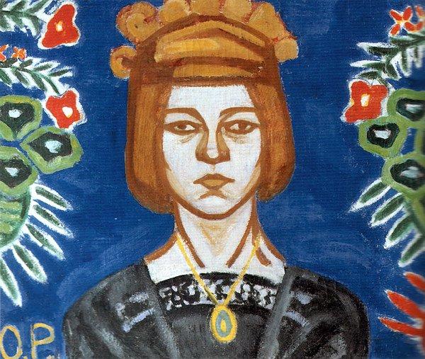 Self Portrait 1912 | Olga Rozanova | oil painting
