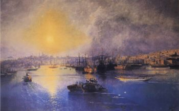 Constantinople Sunset | Ivan Aivazovsky | oil painting