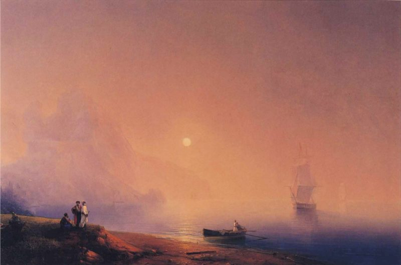 Crimean Tartars on the Sea Shore | Ivan Aivazovsky | oil painting