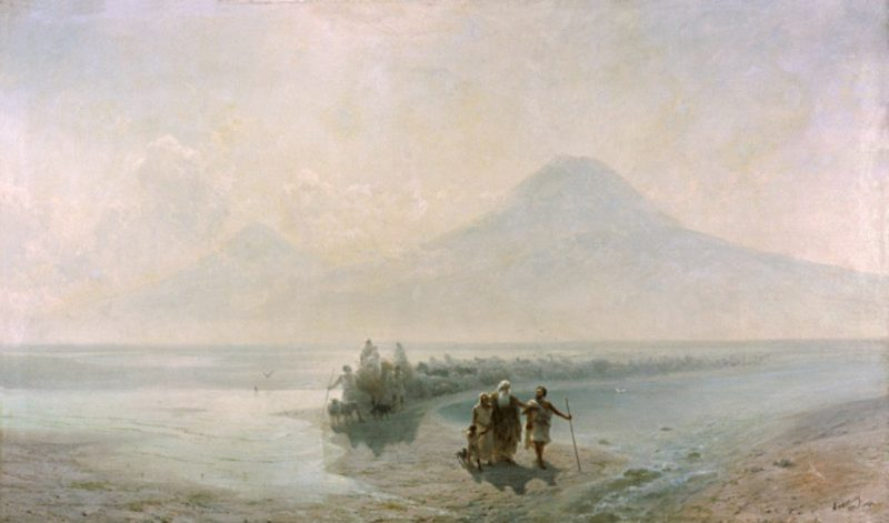Dejection of Noah from mountain Ararat | Ivan Aivazovsky | oil painting