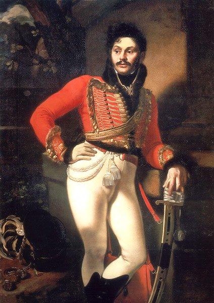 Portrait of Evgraf Davidov 1809   Orest Kiprensky   oil painting