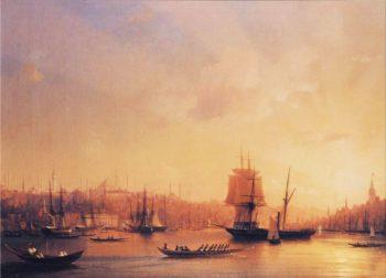Dusk on the Golden Horn | Ivan Aivazovsky | oil painting