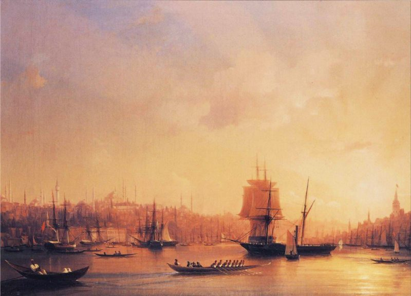 Dusk on the Golden Horn | Ivan Aivazovsky | oil painting