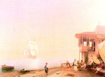 Embankment of oriental town   Ivan Aivazovsky   oil painting
