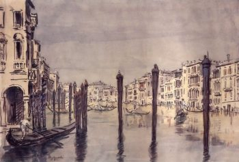 The Grand Canal Venice 1911 | Ostroumova Lebedeva | oil painting