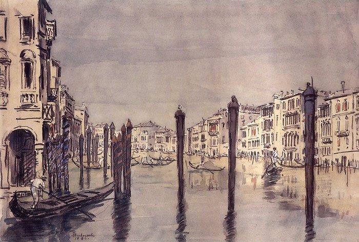 The Grand Canal Venice 1911 | Ostroumova Lebedeva | oil painting