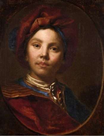 Boy in red | Vittore Giuseppe Ghislandi | oil painting