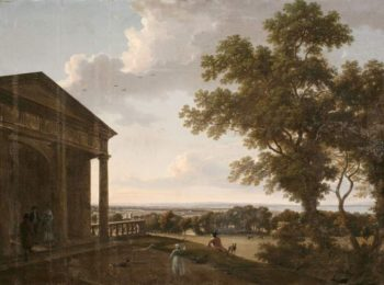 View in Mount Merrion Park (1804) | William Ashford | oil painting