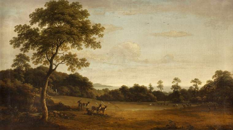 View in Mount Merrion Park01 | William Ashford | oil painting