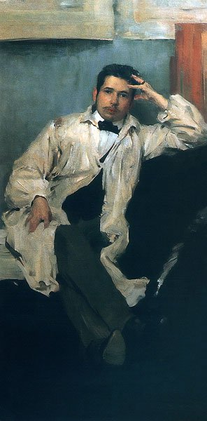 Portrait of Artist Konstantin Somov 1895 | Philipp Malyavin | oil painting