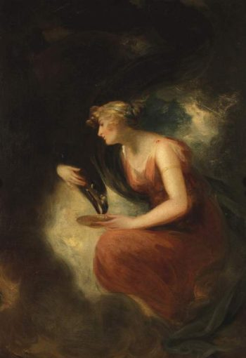 Hebe feeding Jupiter's eagle | William Beechey | oil painting