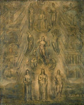 An Allegory of the Spiritual Condition of Man | William Blake | oil painting
