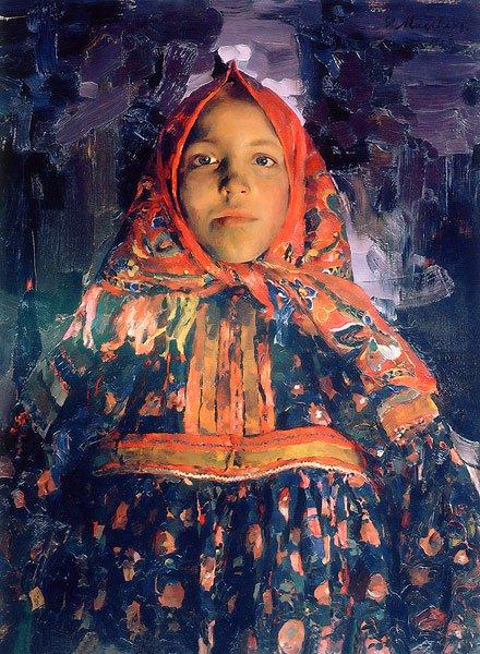 Verka 1913 | Philipp Malyavin | oil painting