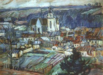 Namur France 1908 | Pyotr Konchalovsky | oil painting