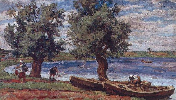 The Lake of Ilmen 1925   Pyotr Konchalovsky   oil painting