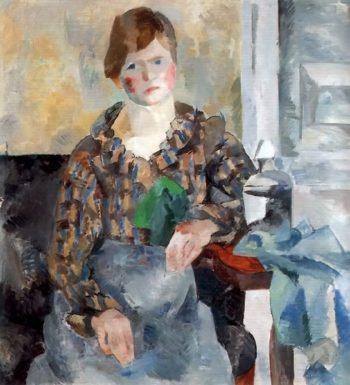 Female Portrait 1917 | Robert Falk | oil painting