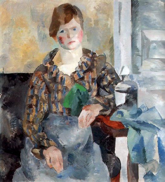 Female Portrait 1917   Robert Falk   oil painting