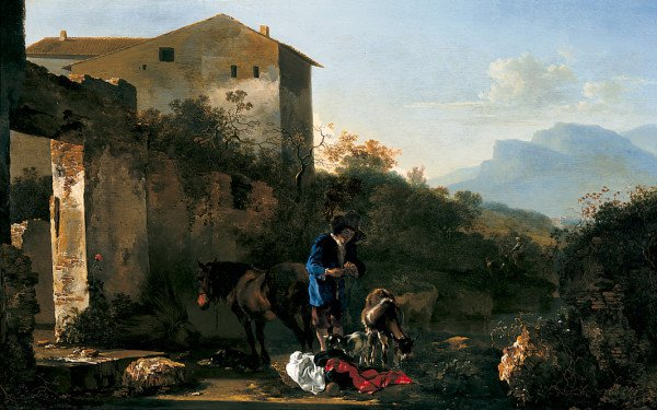 Landscape with a Goatherd | Adam Pynacker | oil painting