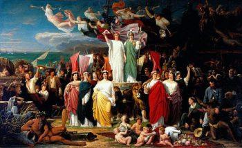 Genius of America   Adolphe Yvon   oil painting
