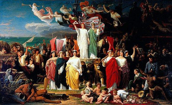Genius of America | Adolphe Yvon | oil painting
