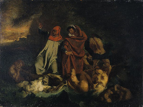 The Barque of Dante | After Eugene Delacroix | oil painting